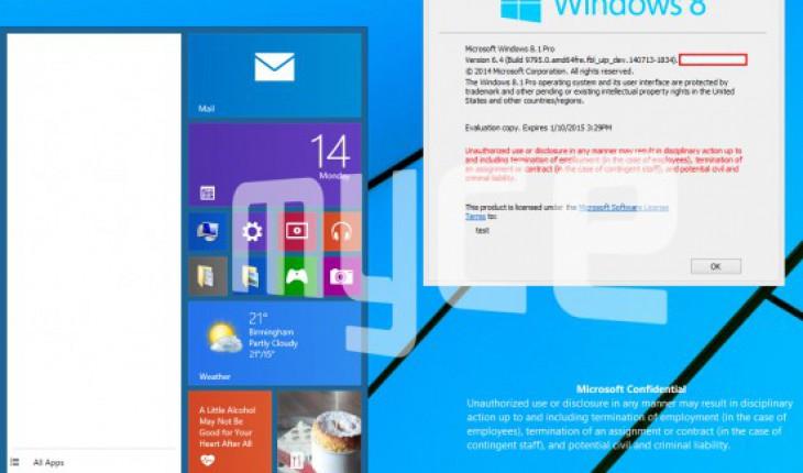Windows 9 screenshot leaked