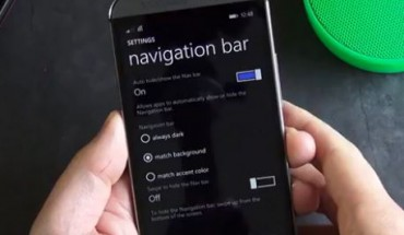 Navigation Bar su HTC One M8