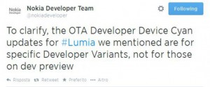 Tweet di Nokia Developer Team