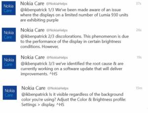 Nokia Care su Lumia 930