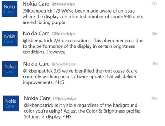 Nokia Care su Lumia 930