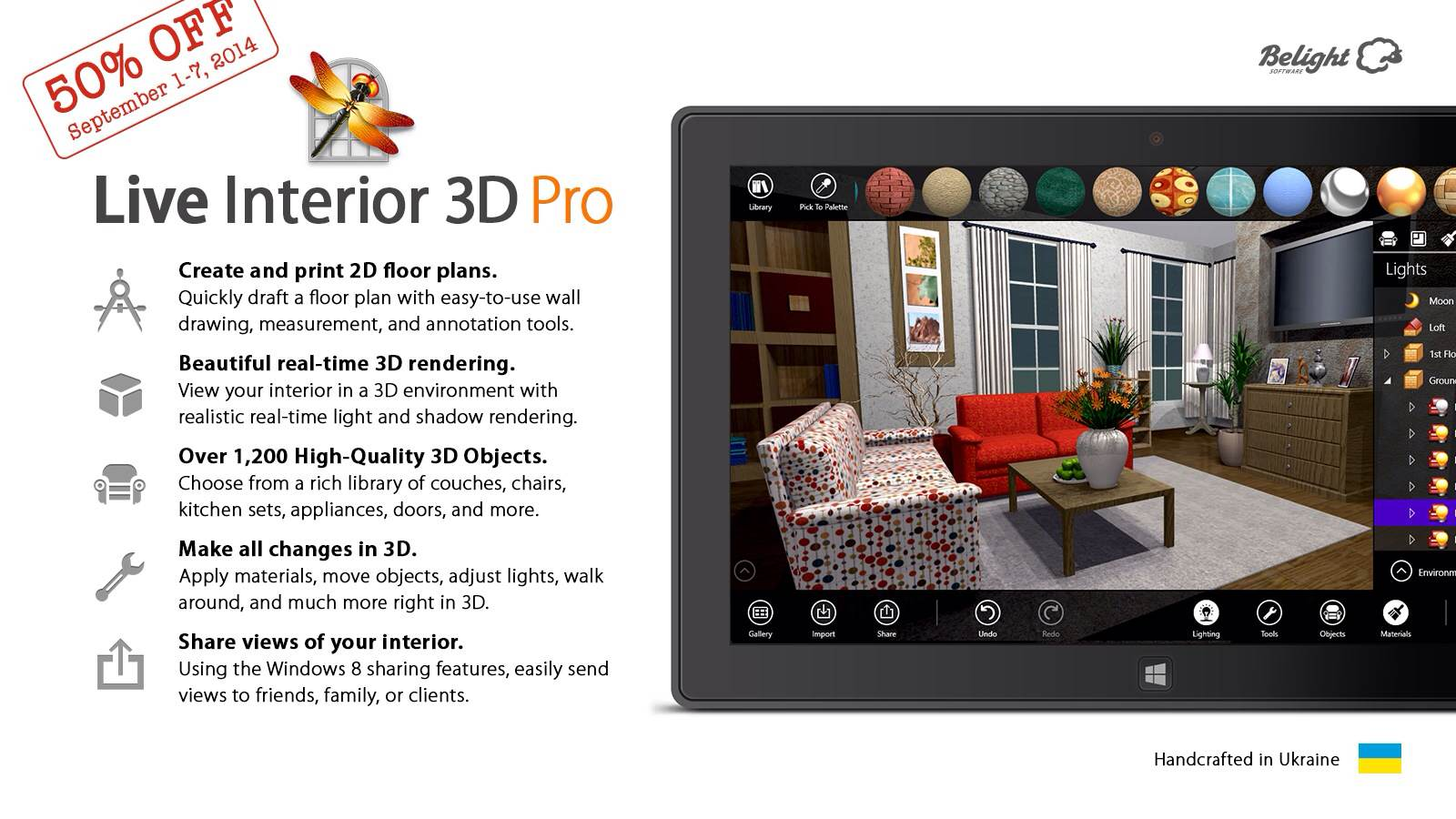 Live interior 3d per windows 8 1 l 39 app completa per la for App arredamento interni