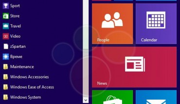 Start Menu di Windows 9