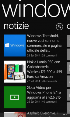 Tema nero Windowsteca App