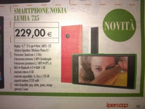 Nokia Lumia 735 in offerta