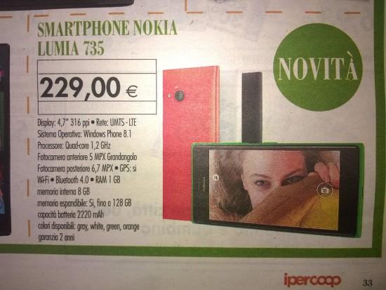 Nokia Lumia 735 in offerta