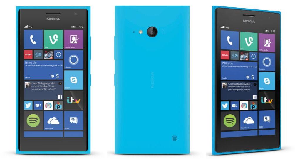 Nokia Lumia 735 ciano
