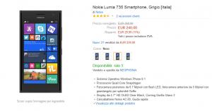 Nokia Lumia 735 a soli 229 Euro su ePrice