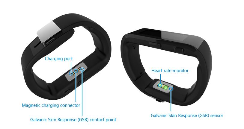 Sensori e connetti del Microsoft Band