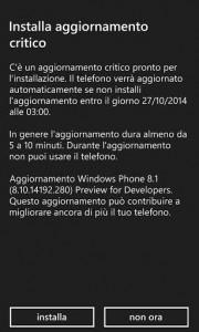Update DP WP8.1 v8.10.14192.280
