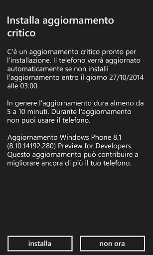 Update DP WP8.1 v8.10.14192.280