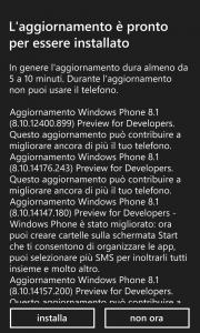 Update Developer Preview di WP8.1