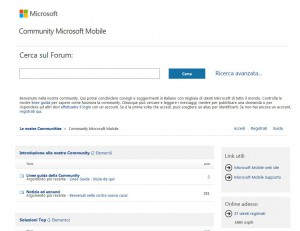 Forum di Supporto Nokia - Mobile Community