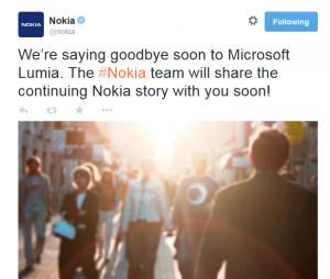 Tweet Nokia
