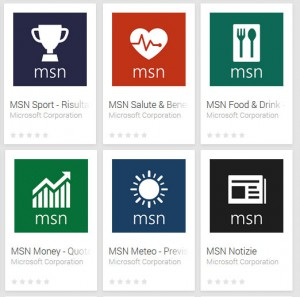 MSN Apps su Google Play Store