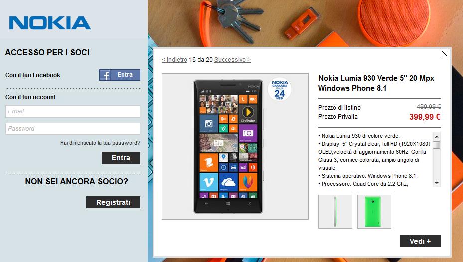 Nokia Lumia 930 in offerta Privalia