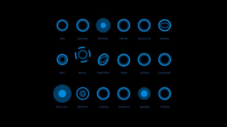 Animazioni di Cortana