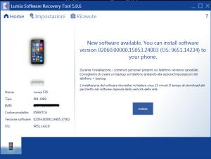 Software update per Lumia 535