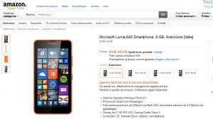 Lumia 640 in preordine su Amazon Italia a 189,99 Euro