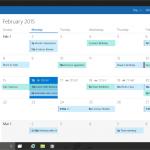 Calendario Windows 10 Preview
