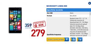 Lumia 830 in offerta