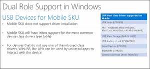 USB for mobile WIndows 10