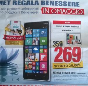 Lumia 830 in offerta da Comit