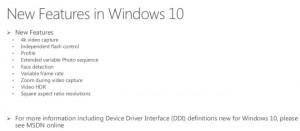 Nuove funzioni per la fotocamera su Windows 10