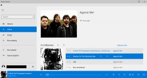 App Music per Windows 10