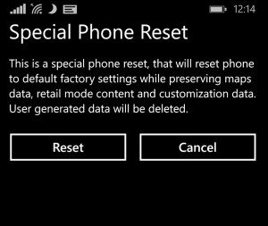 Metodo alternativo per resettare i Windows Phone