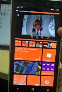 Split-screen su un Lumia 930