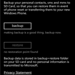 Contacts+message backup