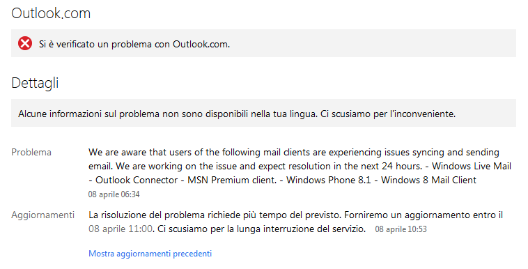 Problemi Outlook
