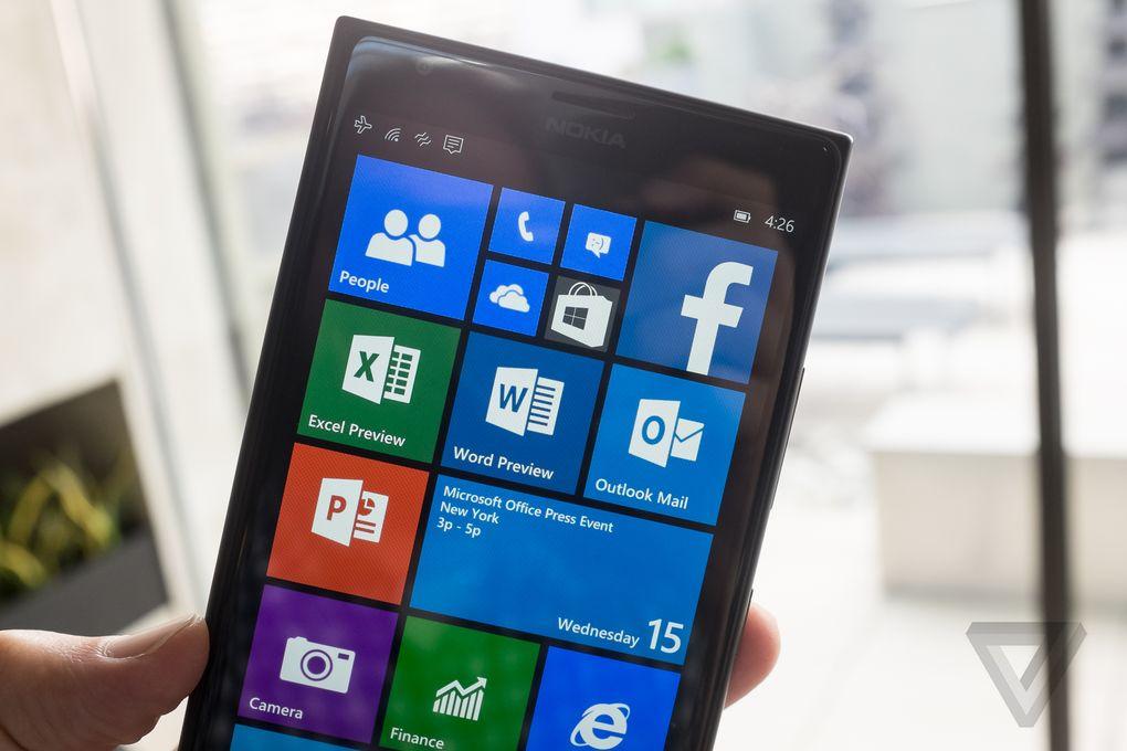 La prima preview di office per windows 10 per smartphone for Smartphone piccole dimensioni