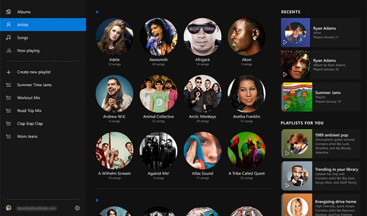 Music Preview per Windows 10 Preview per PC