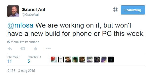 No Build di Windows 10 Preview