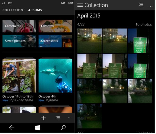 App Foto (a sinistra le novità in arrivo)