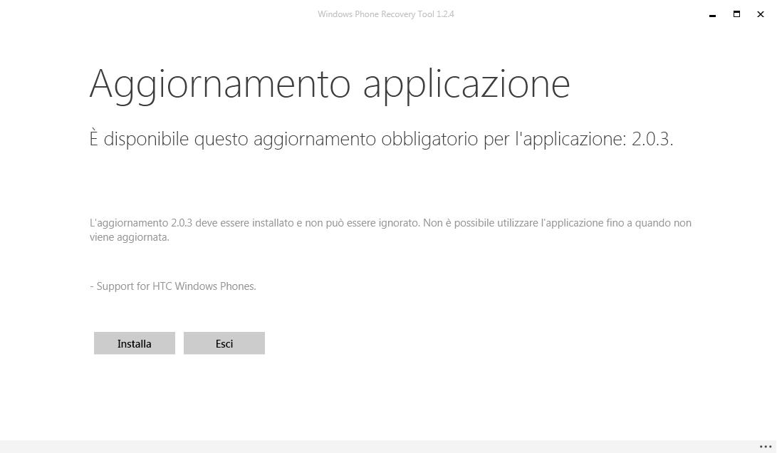 Update Windows Phone Recovery Tool