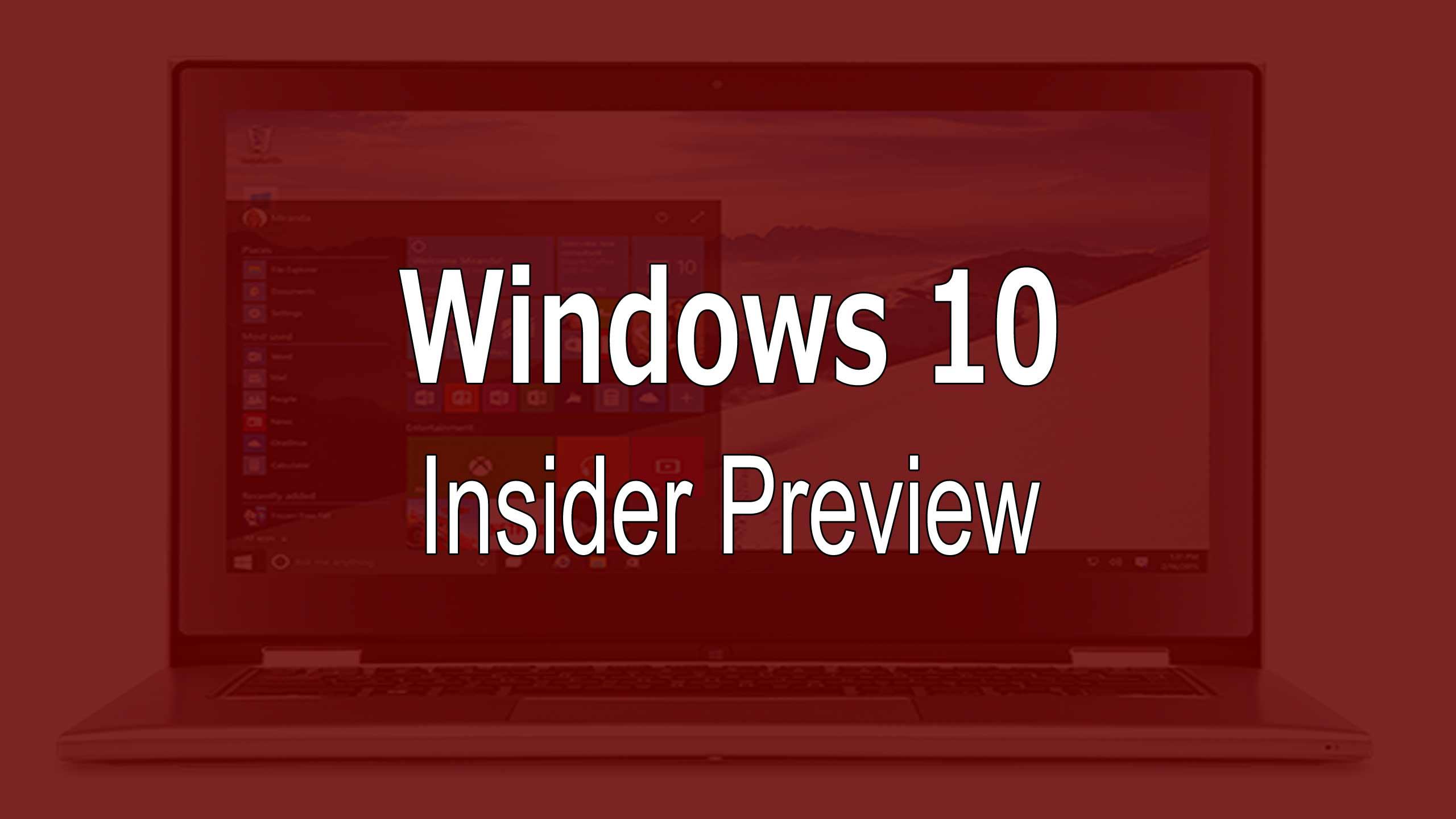 windows 10 disponibile al download la build 10565 insider preview per pc e tablet aggiornato. Black Bedroom Furniture Sets. Home Design Ideas