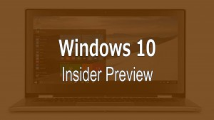 Windows 10 PC Preview