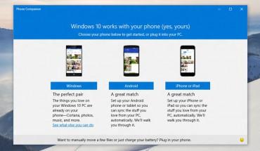 Phone Companion App di Windows 10