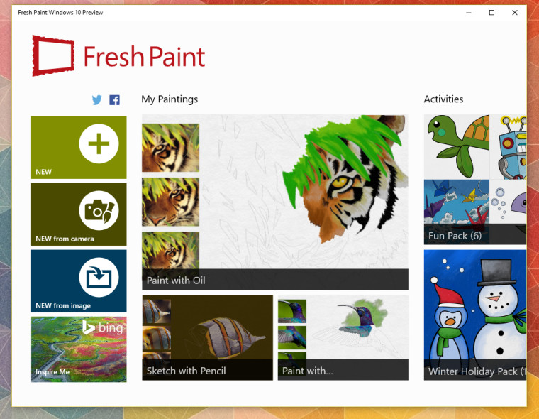 Fresh Paint Windows 10 Preview