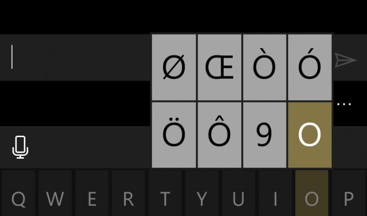 Tastiera qwerty Windows 10 Mobile