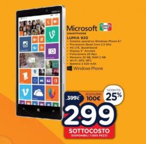 Lumia 930 in Sottocosto