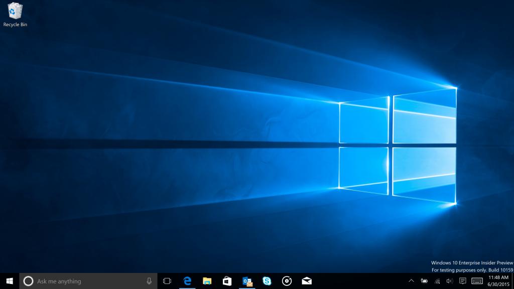 Build 10159 Windows 10 Preview per PC