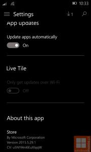Windows Store Settings