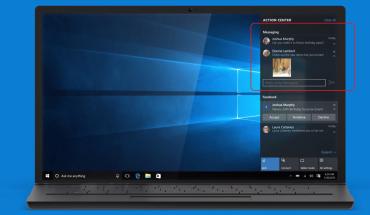 Windows 10 - integrazione Messaggi nell'Action Centre