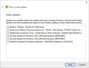 Windows 10 - Tool per nascondere gli updates