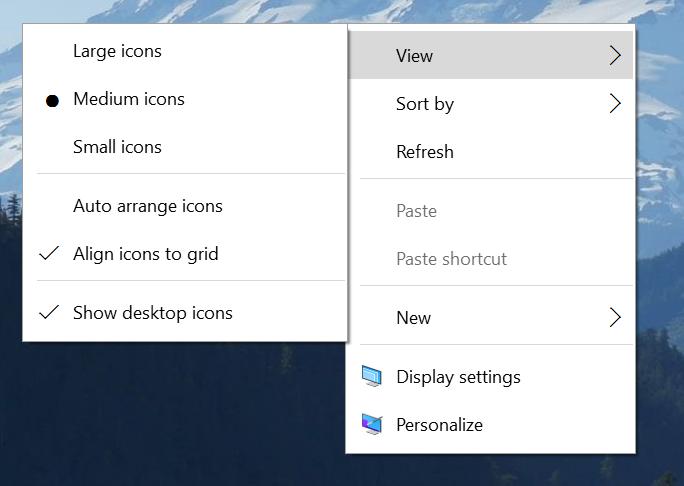 Menu Contestuale Windows 10