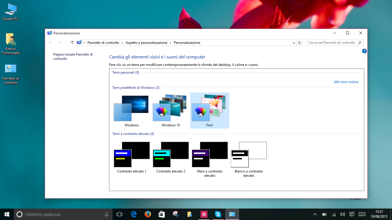 Temi di Windows 10